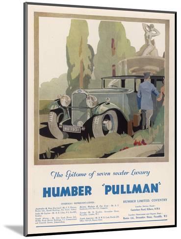 Advertisement Humber Pullman--Mounted Giclee Print