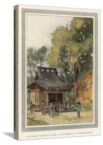 A Rustic Temple in the Japanese Countryside--Stretched Canvas Print