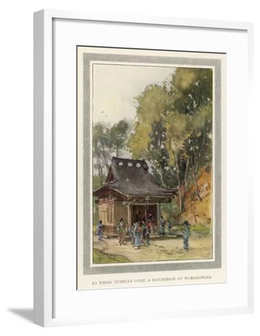 A Rustic Temple in the Japanese Countryside--Framed Art Print