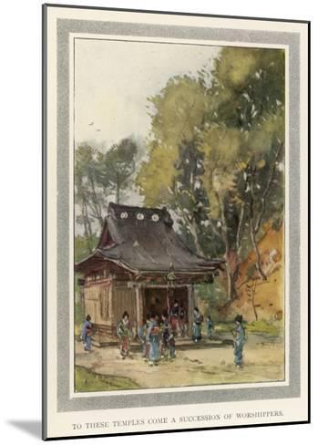 A Rustic Temple in the Japanese Countryside--Mounted Giclee Print