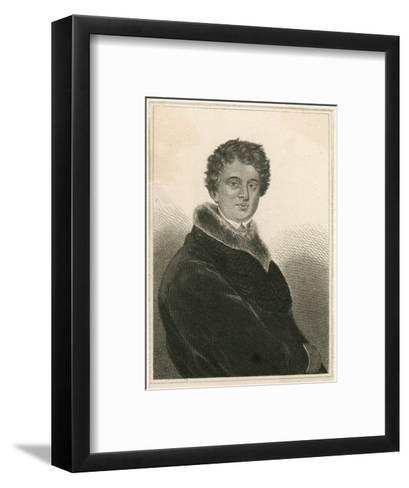 Alexandre Dumas (Pere) French Writer as a Young Man--Framed Art Print