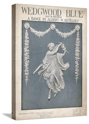 An Illustration of a Typical Wedgwood Design on the Cover of the Music Sheet 'Wedgwood Blue'--Stretched Canvas Print