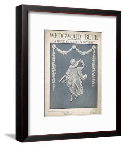 An Illustration of a Typical Wedgwood Design on the Cover of the Music Sheet 'Wedgwood Blue'--Framed Art Print