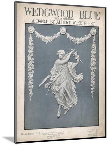 An Illustration of a Typical Wedgwood Design on the Cover of the Music Sheet 'Wedgwood Blue'--Mounted Giclee Print