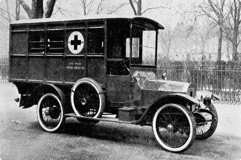 A Motor Ambulance Supplied by Carter's, New Cavendish Street--Stretched Canvas Print