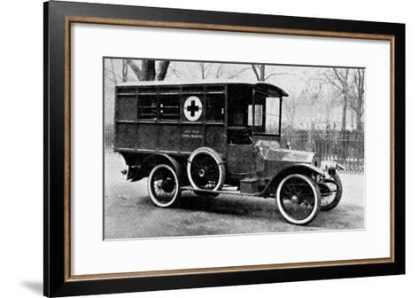 A Motor Ambulance Supplied by Carter's, New Cavendish Street--Framed Art Print