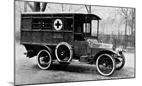 A Motor Ambulance Supplied by Carter's, New Cavendish Street--Mounted Giclee Print