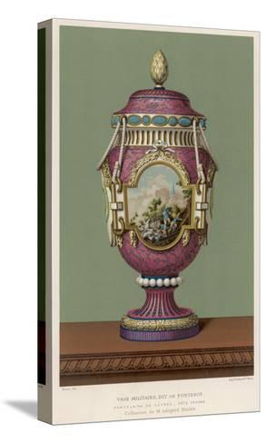 A Porcelain Vase from Sevres, France, in the Traditional Over-The-Top French Style--Stretched Canvas Print