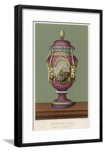 A Porcelain Vase from Sevres, France, in the Traditional Over-The-Top French Style--Framed Art Print
