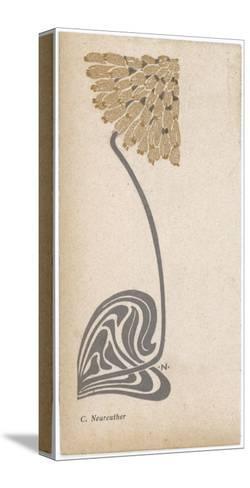 A Stylized, Art Nouveau Depiction of a Flower - Possibly a Dandelion--Stretched Canvas Print