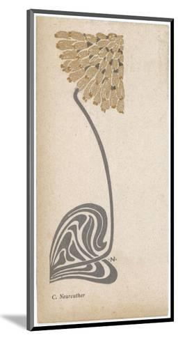 A Stylized, Art Nouveau Depiction of a Flower - Possibly a Dandelion--Mounted Giclee Print
