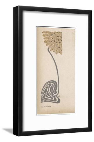 A Stylized, Art Nouveau Depiction of a Flower - Possibly a Dandelion--Framed Art Print