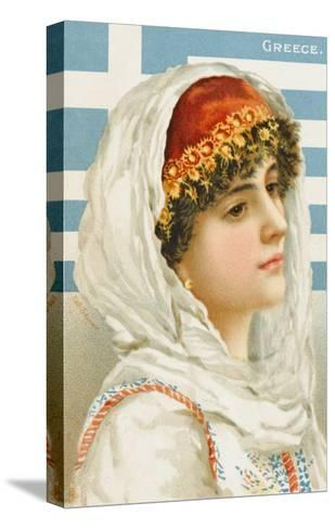 A Woman from Greece--Stretched Canvas Print