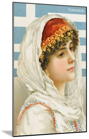 A Woman from Greece--Mounted Giclee Print