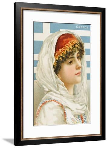A Woman from Greece--Framed Art Print
