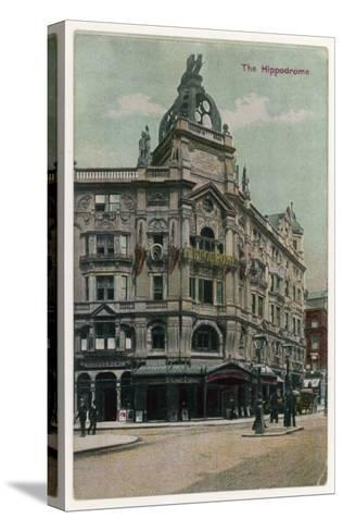 An Exterior View of the Hippodrome Theatre, London--Stretched Canvas Print