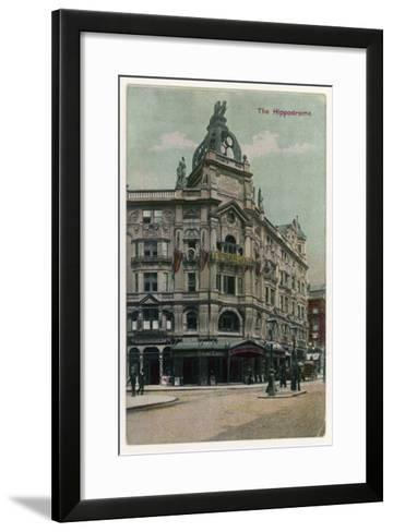 An Exterior View of the Hippodrome Theatre, London--Framed Art Print