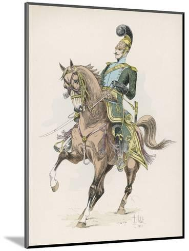 A Russian Cossack of the Imperial Guard on Horseback with Lance--Mounted Giclee Print