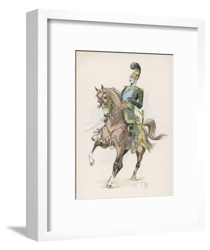 A Russian Cossack of the Imperial Guard on Horseback with Lance--Framed Art Print