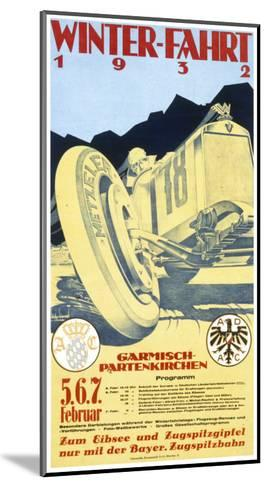 Advertisement for the Garmisch Partenkirchen Winter Motor Racing Festival 5Th-7th February 1932--Mounted Giclee Print