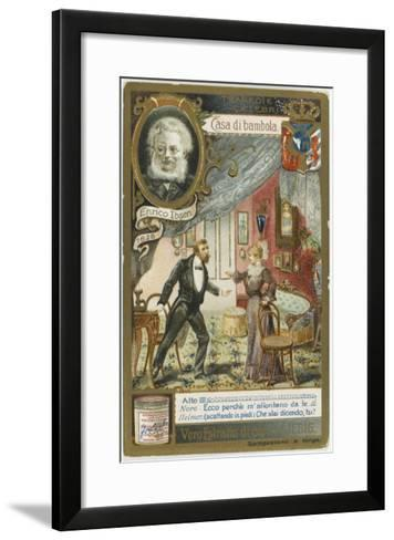A Scene from the Play by Henrik Ibsen--Framed Art Print