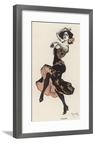 An Italian Dances the Tarantella--Framed Art Print