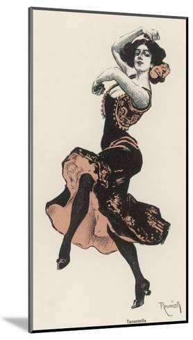 An Italian Dances the Tarantella--Mounted Giclee Print