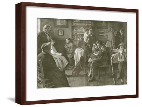 A Soldier's Homecoming--Framed Art Print