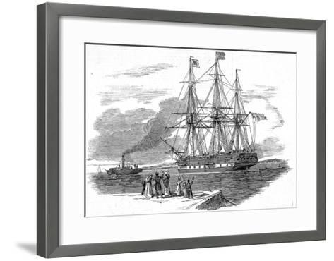 An Emigrant Ship Leaving Great Britain, 1844--Framed Art Print