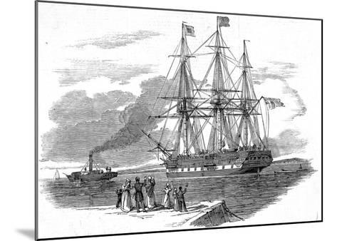 An Emigrant Ship Leaving Great Britain, 1844--Mounted Giclee Print