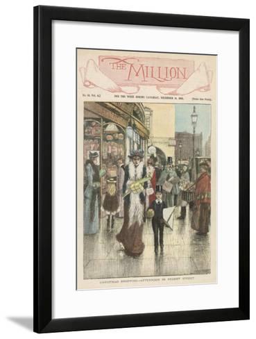 Afternoon Shoppers in Regent Street, London--Framed Art Print
