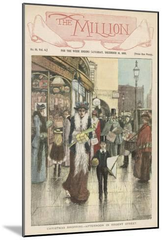 Afternoon Shoppers in Regent Street, London--Mounted Giclee Print