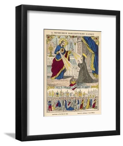 Alacoque and Jesus--Framed Art Print