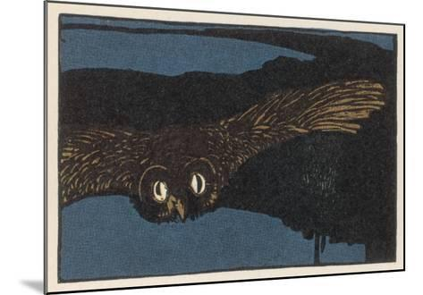 An Owl Staring at You at Night--Mounted Giclee Print