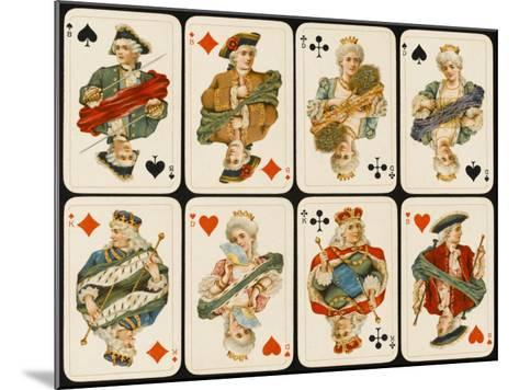 An Assortment of Playing Cards: Kings, Queens and Knaves--Mounted Giclee Print