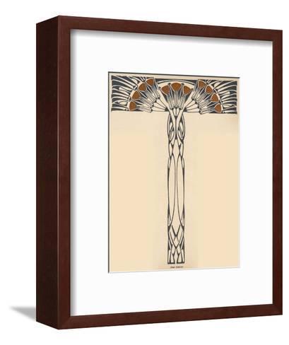 Abstracted Plant in the Jugendstil Manner--Framed Art Print