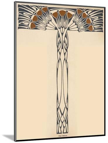 Abstracted Plant in the Jugendstil Manner--Mounted Giclee Print