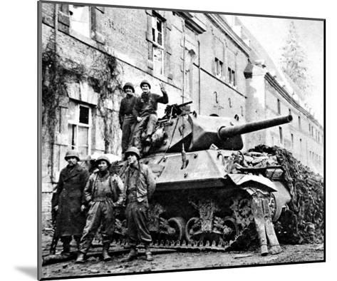 American Tank Destroyer at Stavelot; Second World War--Mounted Giclee Print