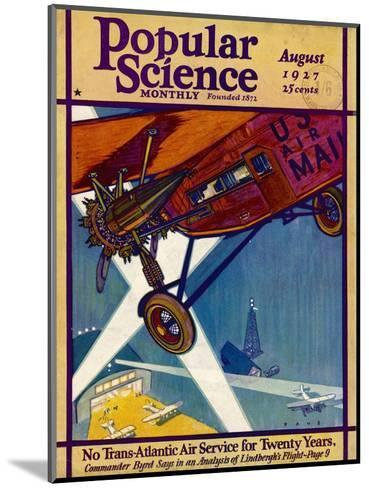 American Mail Plane 1927--Mounted Giclee Print