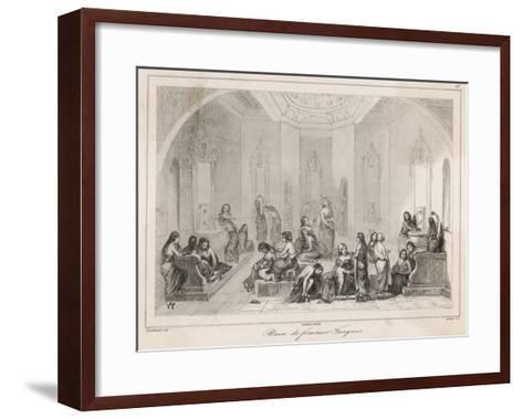 A Women's Turkish Bath--Framed Art Print