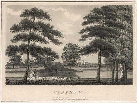 A Picturesque View of Clapham Common--Stretched Canvas Print