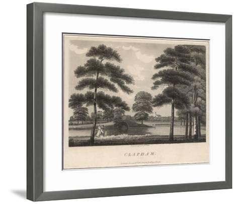 A Picturesque View of Clapham Common--Framed Art Print