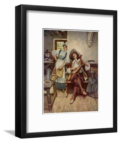 A Scene from the Interior of a Seventeenth Century Tavern--Framed Art Print