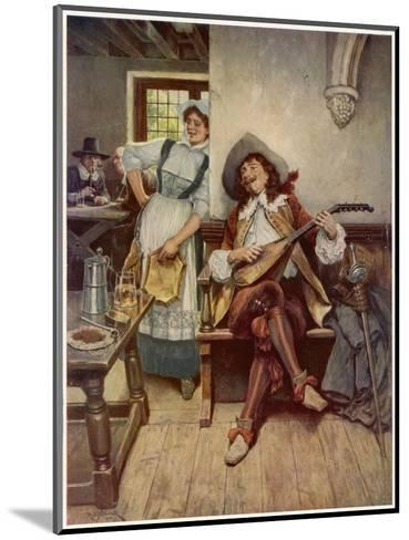 A Scene from the Interior of a Seventeenth Century Tavern--Mounted Giclee Print