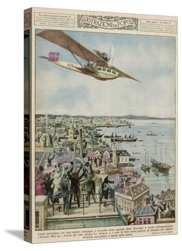 Amundsen in a Dornier--Stretched Canvas Print