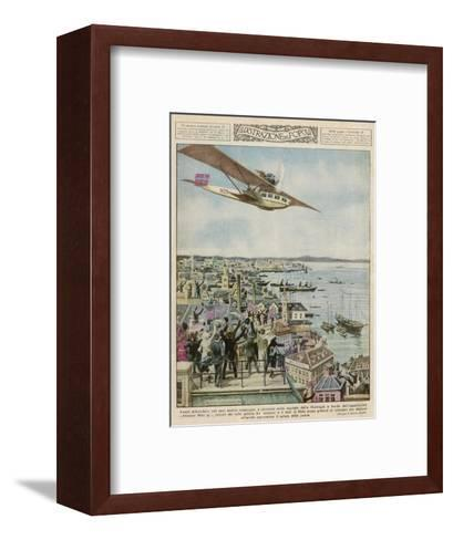 Amundsen in a Dornier--Framed Art Print