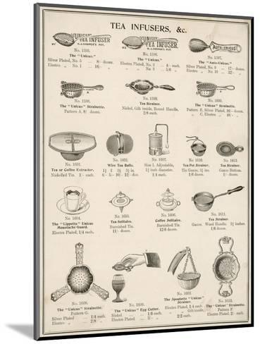 An Assortment of Tea Infusers--Mounted Giclee Print