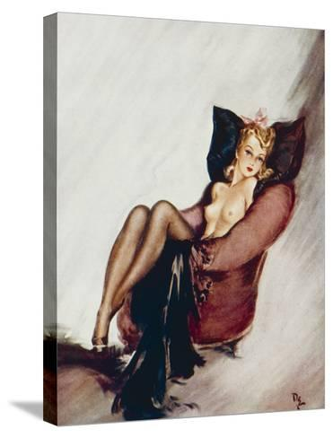 A Sweet Little Trick-David Wright-Stretched Canvas Print