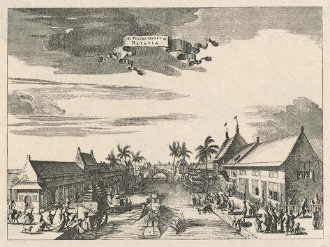 A View of Batavia also known as Djakarta--Stretched Canvas Print