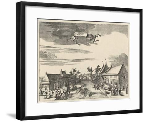 A View of Batavia also known as Djakarta--Framed Art Print